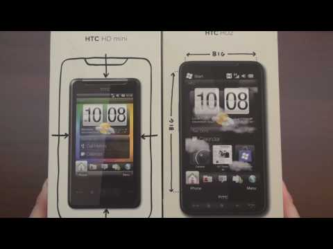 HTC HD Mini Unboxing