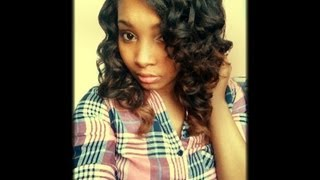 heatless waves on weave using flexi rods
