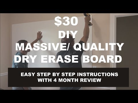 dry-erase-board-diy-step-by-step-(quality/massive/easy)-for-$30