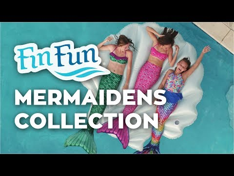 2128f4e494 Mermaid Tails by Fin Fun with Monofin for Swimming - in Kids and Adult  Sizes - Walmart.com