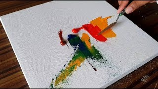 Abstract Painting / Easy and Colorful with Acrylics and Palette knife / Project 365 days / Day #043