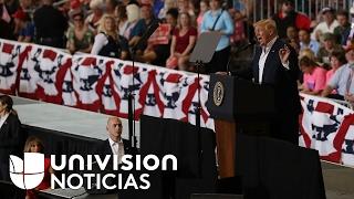 Las promesas y los ataques de Trump a la prensa: un resumen de su mitin en Florida