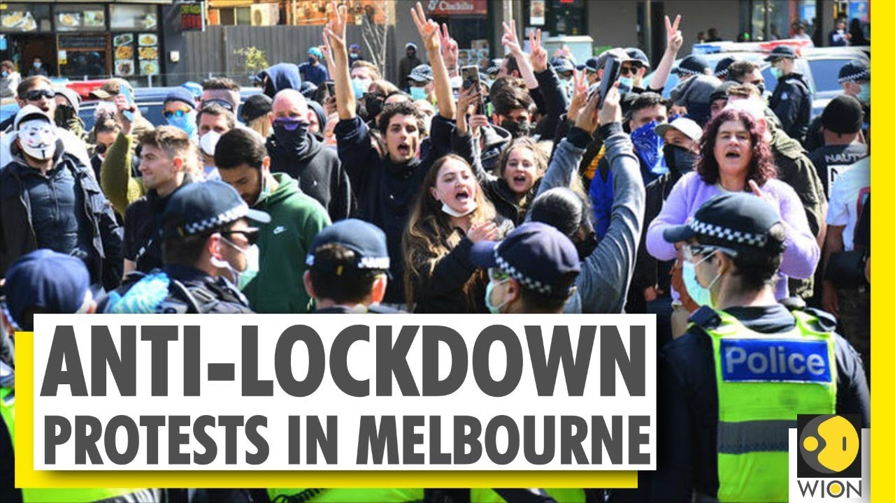 Several people arrested in illegal protests in Melbourne   COVID-19  Pandemic - YouTube