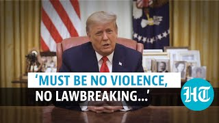 After impeachment, Donald Trump condemns Capitol riot; urges 'calm'
