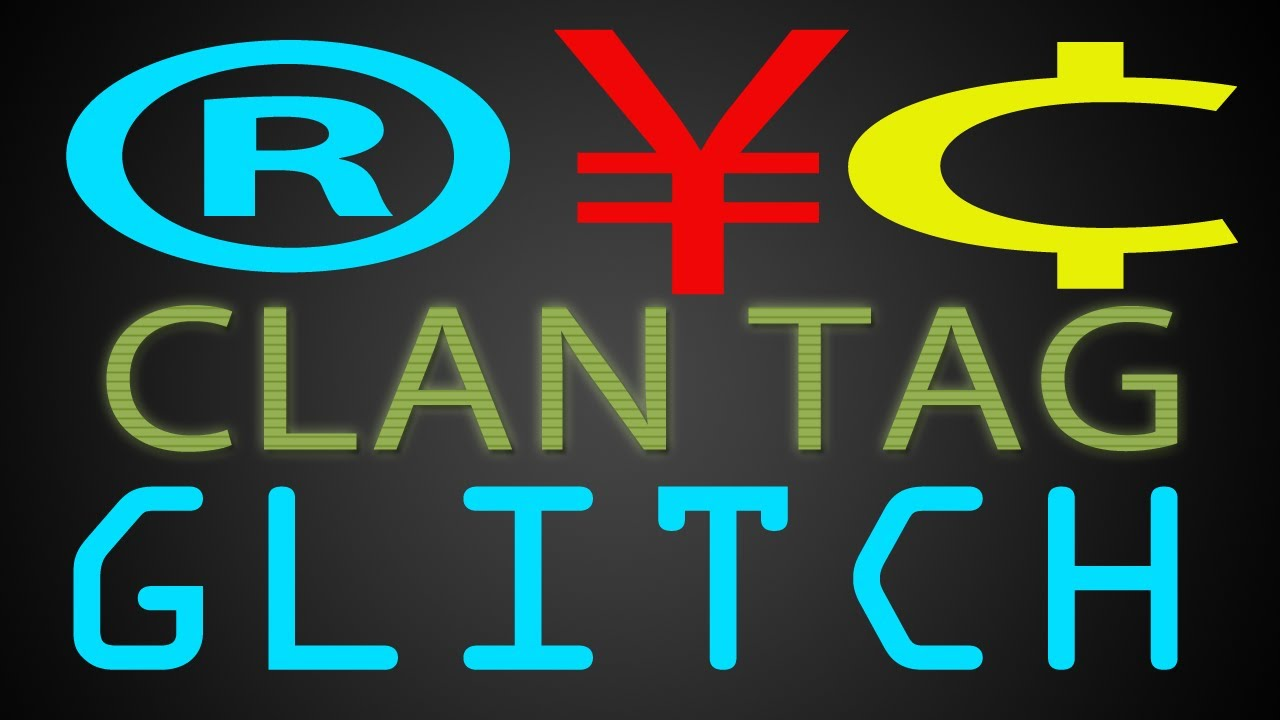 MW3- Symbols in Clan Tag Glitch ! (In Game Glitch Tutorial ...
