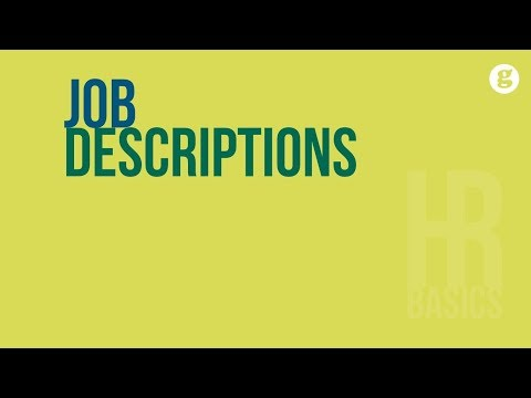 HR Basics: Job Descriptions