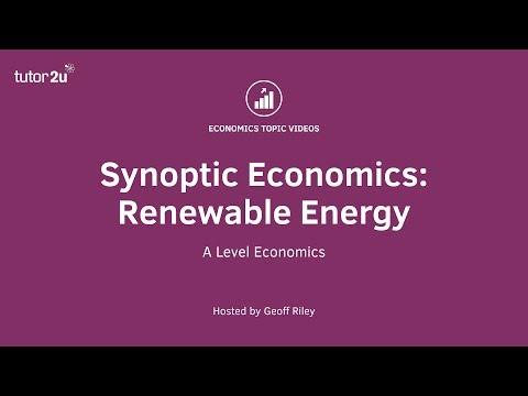 Synoptic Economics: Renewable Energy