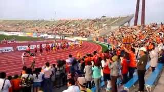 愛媛FC vs 京都サンガFC 試合後の様子(愛媛FC勝利!!)