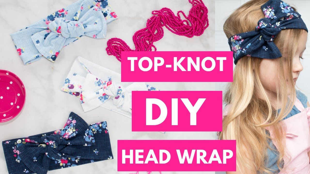top knot Colorful hearts bow headwrap