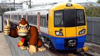 Donkey Kong Rides A Train
