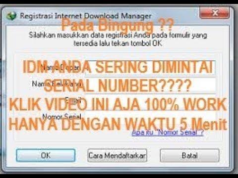 Cara Mengatasi IDM Yang Minta Serial Number... 100% ...