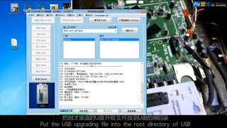 For serial closed mainboard with NOR+EMMC scheme,how to deal with by RT809 series programmer