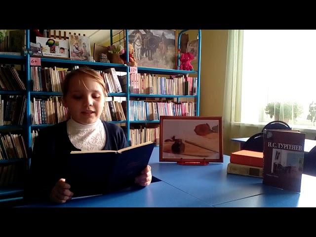 Изображение предпросмотра прочтения – ДарьяЧубарова читает отрывок изпроизведения «Му-Му» И.С.Тургенева