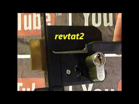 Взлом отмычками ISEO   Single Pin Picking An ISEO 5 Pin Euro Cylinder Lock In Metal Housing Using revtat2 Custom Pick (Most of my videos are tutorials with hints a