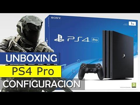 Unboxing Play Station 4 Pro - 4K (en español) lo probamos para descargar juegos gratis