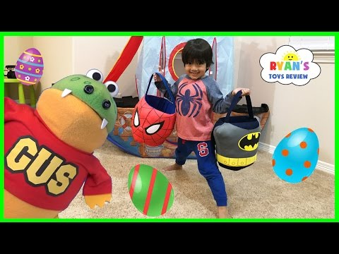 Thumbnail: Easter Egg Hunts for Kids with Ryan ToysReview and Gus for Surprise Toys Gummy