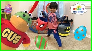 Easter Egg Hunts for Kids with Ryan ToysReview and Gus for Surprise Toys Gummy