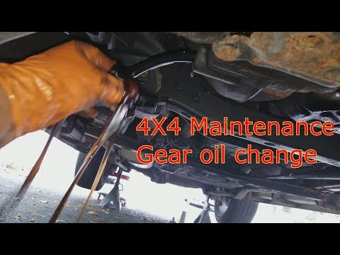 LX470 And Land Cruiser Differential And Transfer Case Gear Oil Change