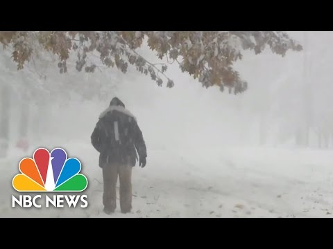Extreme Weather: Early Snow In Parts Of U.S. | NBC News
