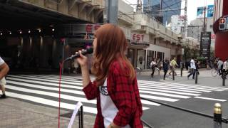 森本菜々「Real voice」(絢香) 2014/09/19 大阪 梅田 HEP FIVE向い