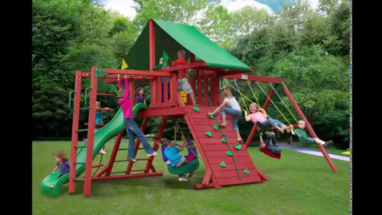 Gorilla playsets sun valley ii swing set youtube for Gorilla playsets
