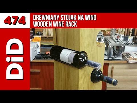 474. Drewniany stojak na wino / Wooden wine rack