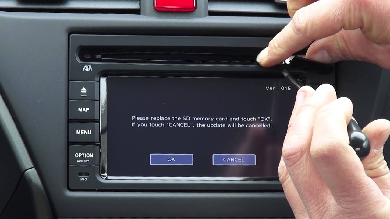 Honda SD navigation update manual