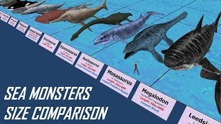 Sea Monsters Size Comparison
