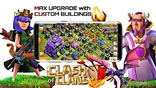 Clash of clans Max level with Custom Buildings Under 1 hour 😱| Ultimate Troops 🔥⚡