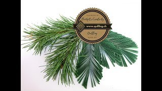 Bridgit's Quilling Scots pine branches (with NEW Quilling Zigzag Technique - Video 3)