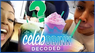 TASTING LIZA KOSHY'S STARBUCKS DRINK?! | Celebrity Drinks Decoded