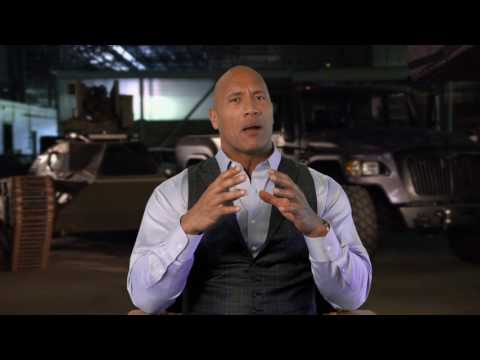 "The Fate of the Furious: Dwayne Johnson ""Luke Hobbs"" Behind the Scenes Movie Interview"