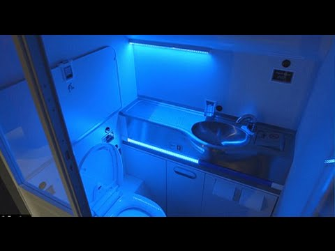 boeing unveils self cleaning plane bathroom that uses uv light to up microbes
