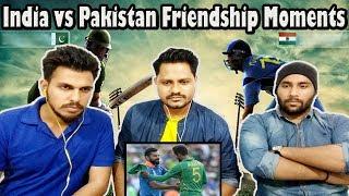 Indian Guys Reacts To India vs Pakistan Cricket Friendship Moments | Krishna Views