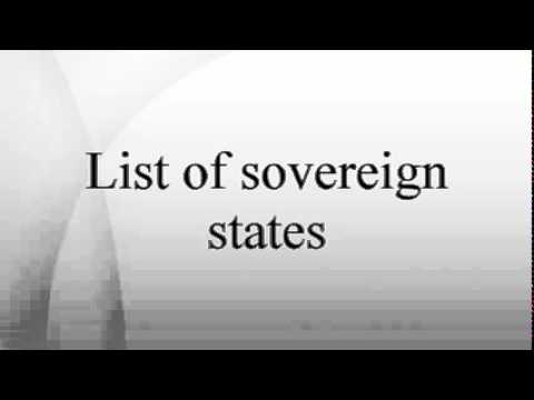 List of sovereign states