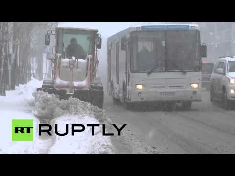 Russia: Emergencies Ministry issues warning over heavy Sakhalin snow