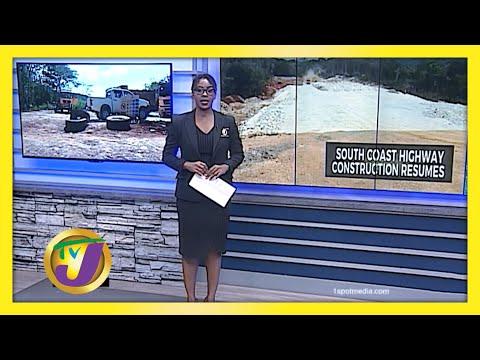 Jamaica's South Coast Highway Construction Resumes   TVJ News