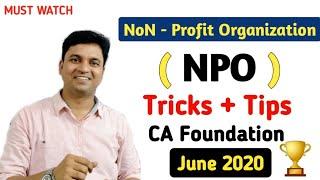 Accounts NPO NON Profit Organization l Tricks & Tips