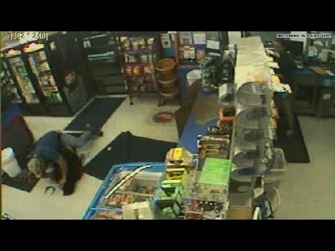Video captures former Marine take down armed robber