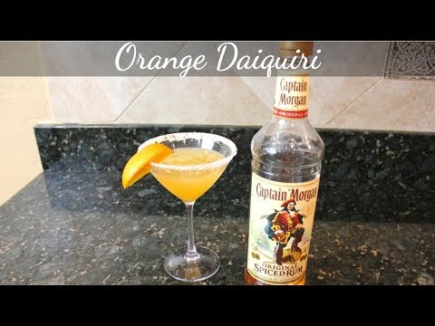 Orange Daiquiri: Captain Morgan Cocktails / Drinks (Spiced Rum Cocktails)
