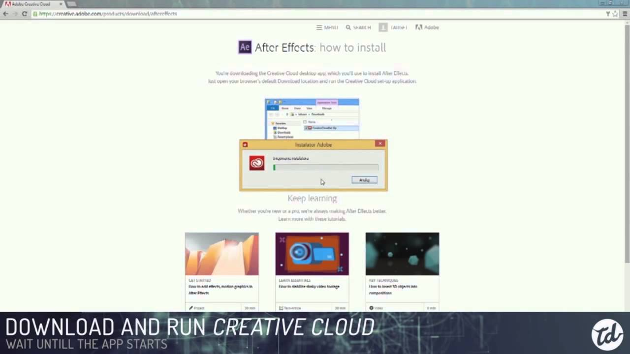 How to download and install Adobe After Effects for FREE Trial Version