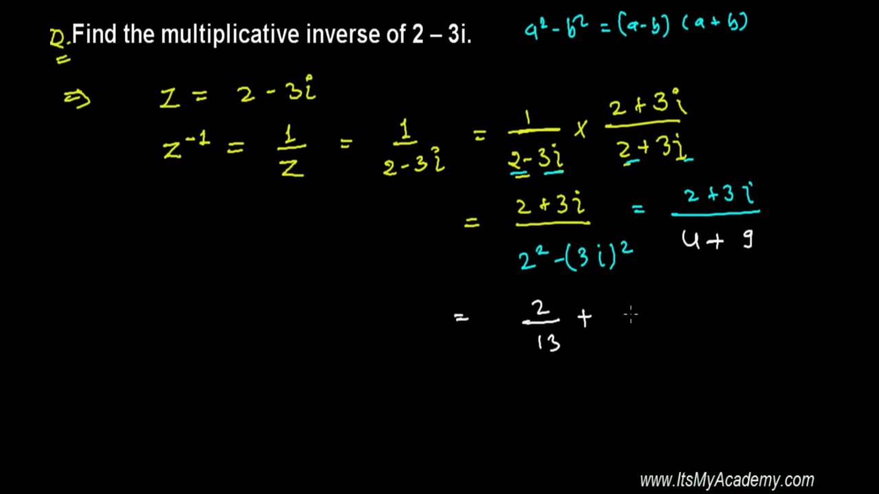 worksheet Properties Of Complex Numbers Worksheet trick to find multiplicative inverse of complex number youtube