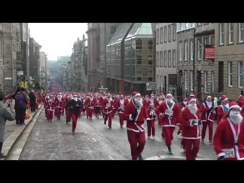 Glasgow Santa Dash 2017