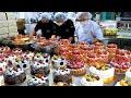 숙련된 케이크 만들기 기술! 순식간에 만드는 엄청난 양의 케익 Amazing skills! Making various types of cake - Korean street food Download Mp4