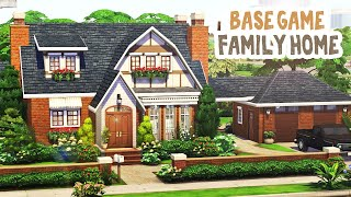 Base Game Cottage 🐞 || The Sims 4 Family Home: Speed Build