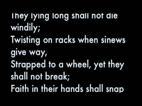 """and death shall have no dominion """"death shall have no dominion"""" - salin sa wikang filipino ni karlo lagman sevilla bilang paggunita sa mga pilipinong naging biktima ng mga paglabag sa karapatang."""