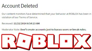 I GOT BANNED ON ROBLOX.. (I AM BLACKLISTED)