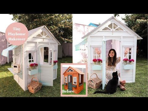 DIY Tiny Playhouse Makeover, How to hack A Cubby House!