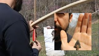WARBOW and WAXED SLATE Arrow Head Penetration Test/on the RIGHT side of bow!