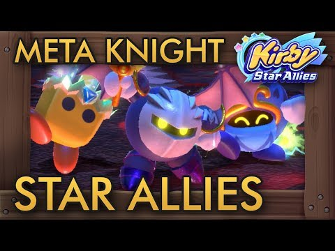 Meta Knight Star Allies (4 Players) Full Co-Op Walkthrough
